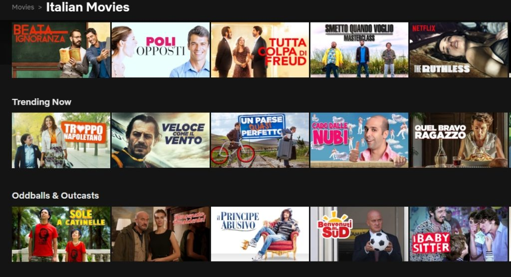 Get access to all the content on Italian Netflix in the USA and in the UK