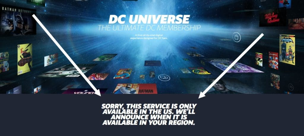 How to access DC Universe abroad?