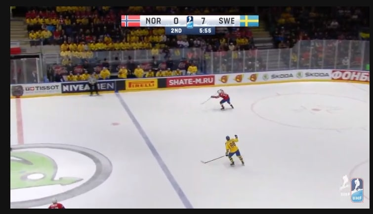 Watching Norway - Sweden live from the Ice Hockey World Cup 2019 online on Youtube.