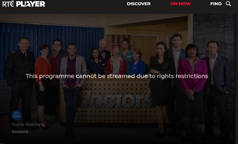RTE Player in Ireland blocking VPN providers