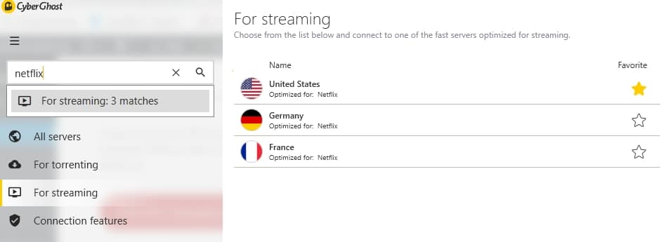 Access different Netflix regions, not only French Netflix.