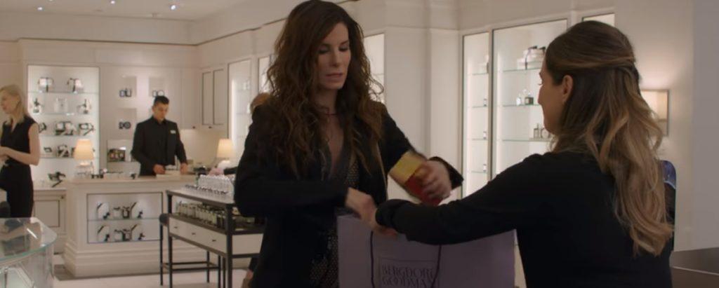 Sandra Bullock in Ocean's 8 on Netflix...