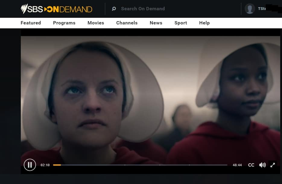 I am watching The Handmaid's Tale season 3 online for free.