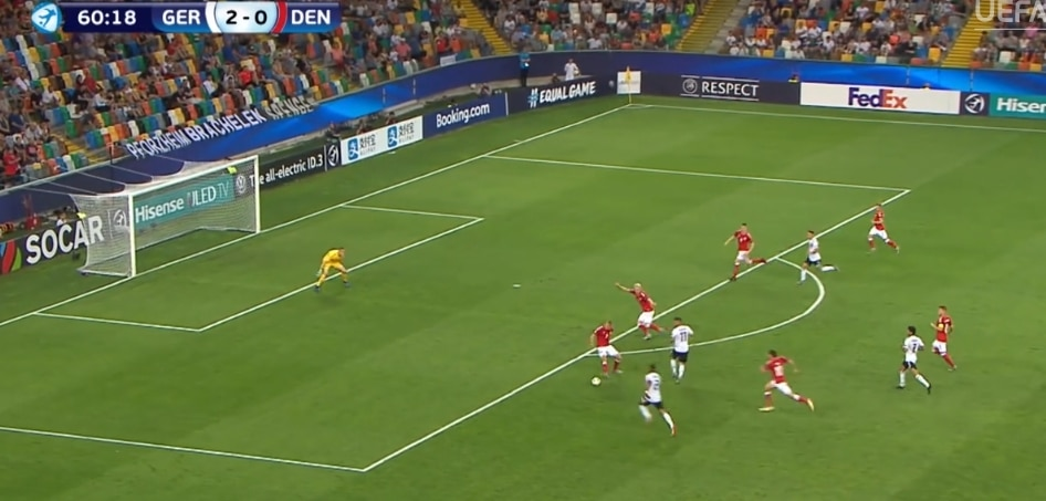 From Yesterday's match between Germany and Denmark online...