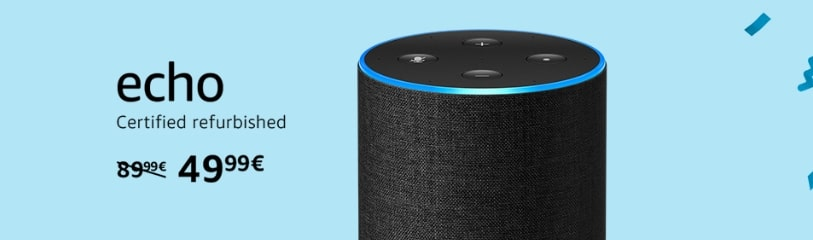 Buy a refurbished Echo device on Amazon Prime in Germany on Prime Day 2019.