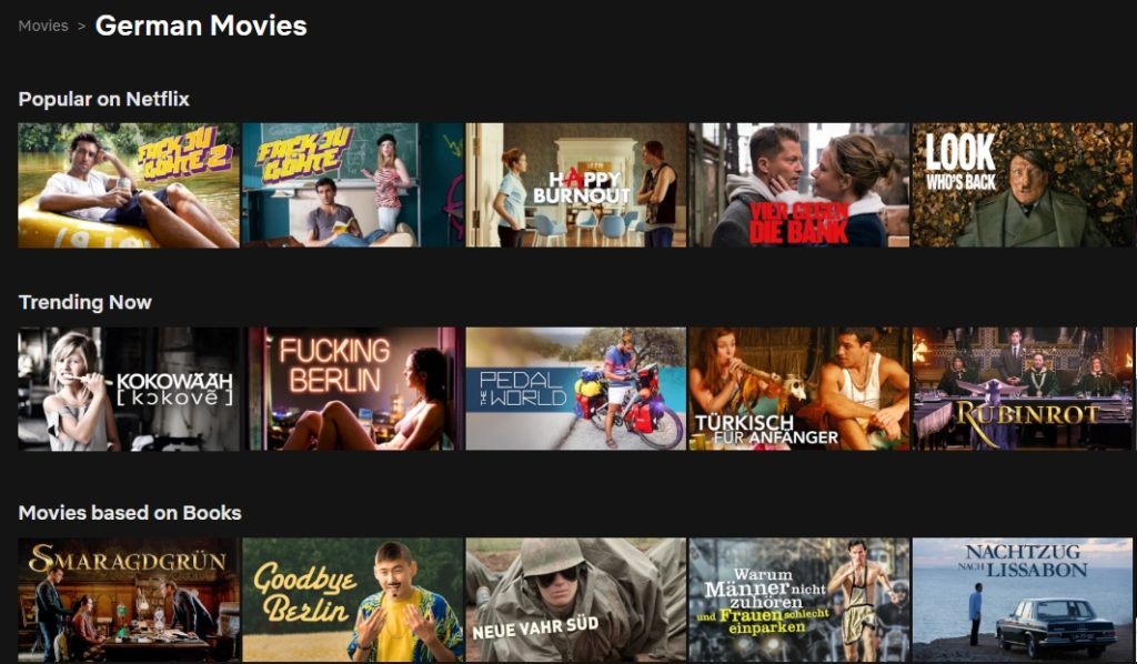 You can get access to lots of German content with Surfshark as you enjoy the German Netflix library!