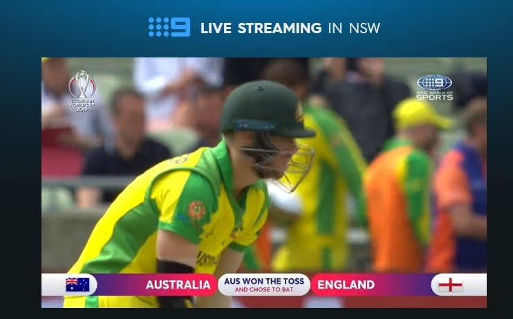The match has started - I am watching Australia vs England live on 9Now Australia