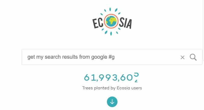 How to search with Google while using Ecosia?