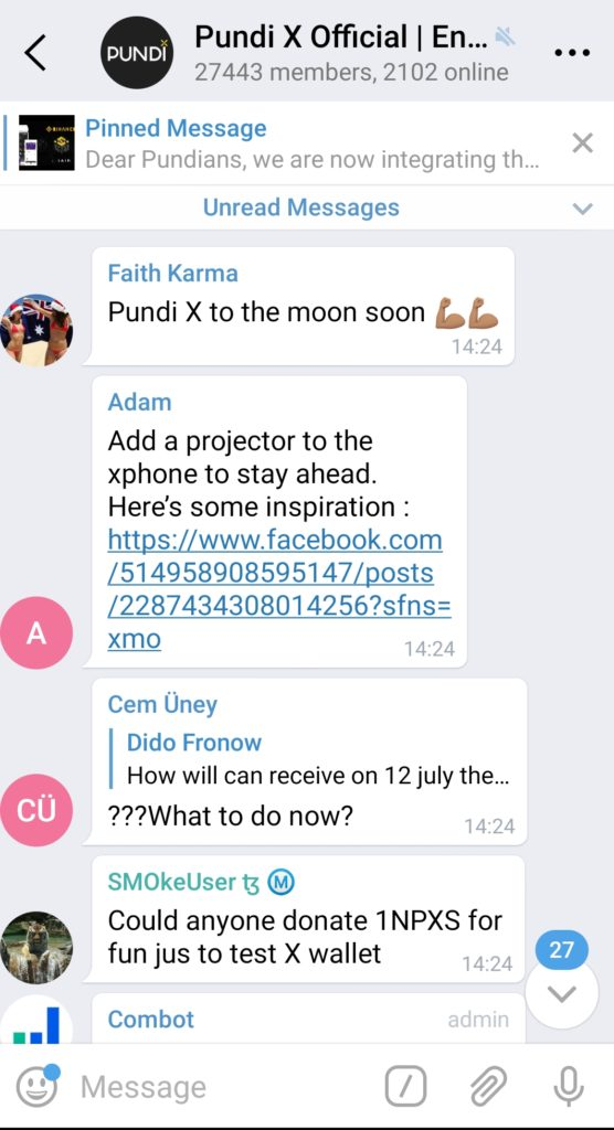 Telegram integrated into the new XWallet