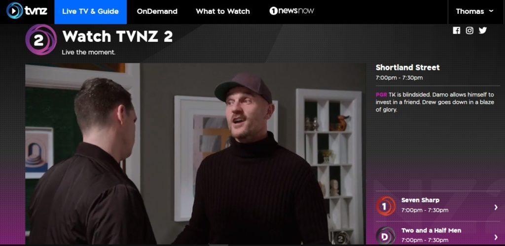 I am watching TVNZ live abroad.