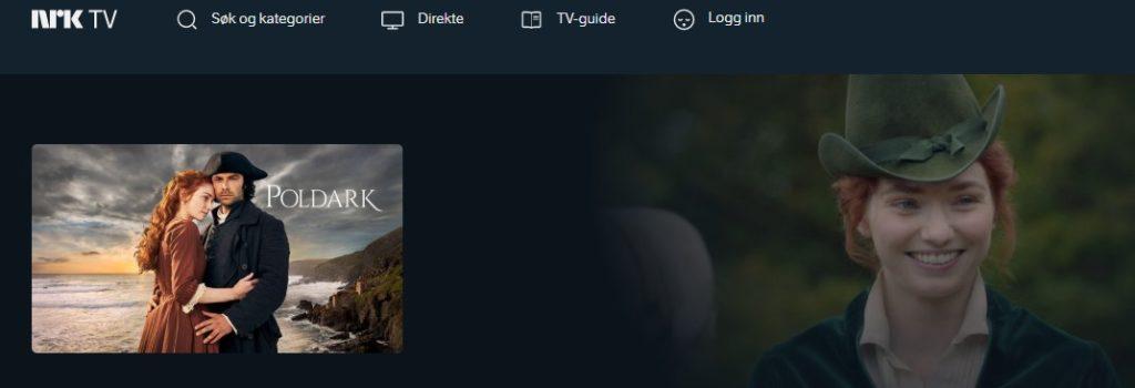 Se Poldark på NRK sine nettsider