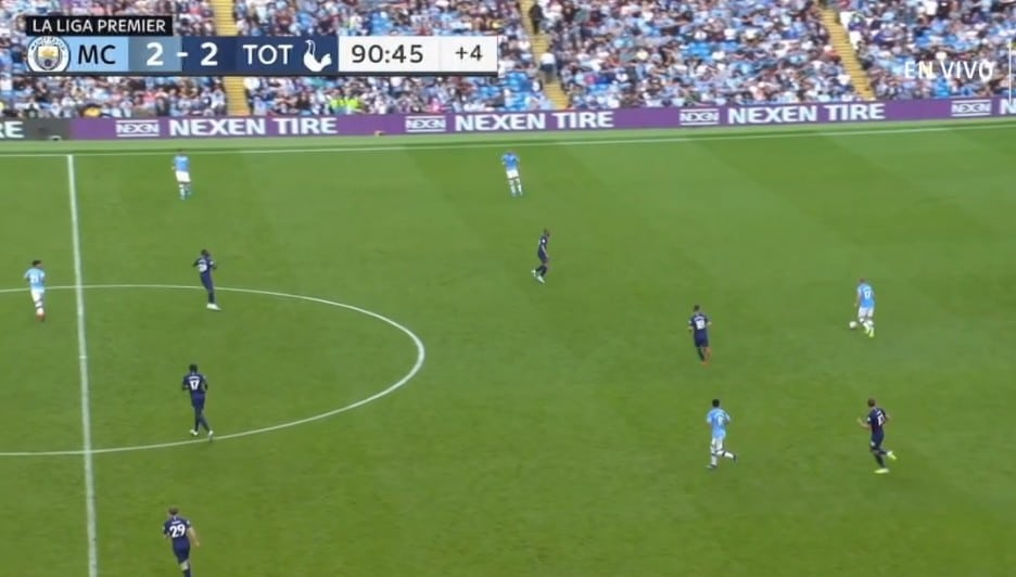 Amazing match between Manchester City and Tottenham on Fubo TV