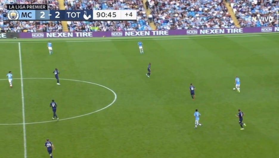 Det var en fantastisk kamp mellom Manchester City og Tottenham i Premier League i dag.