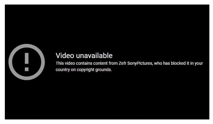 Videos are blocked on YouTube...