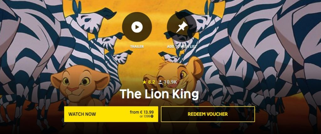 The Lion King at Rakuten TV
