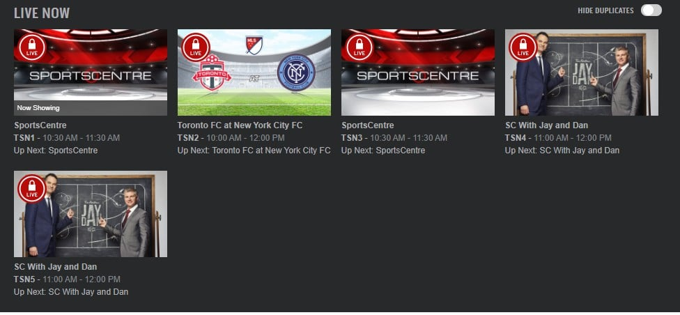 You can get access to the TSN live stream using one of the recommended VPN services.