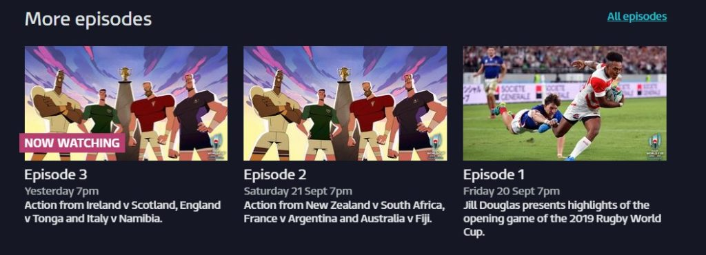 Watch the Rugby match highlights on the daily broadcast at ITV