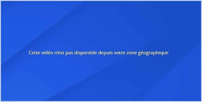 Error message as you try to watch TF1 abroad