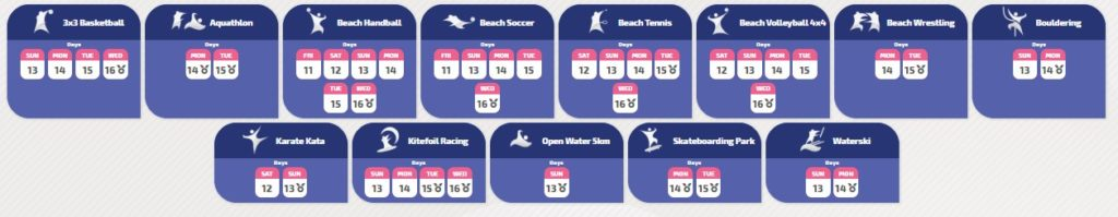 How to watch the World Beach Games 2019 online?