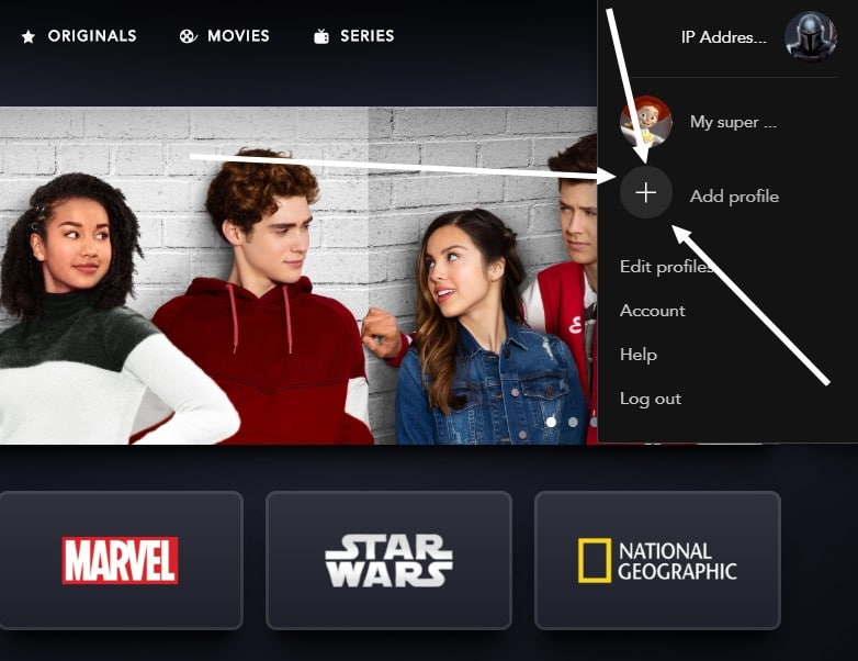 How to add a profile to Disney+?