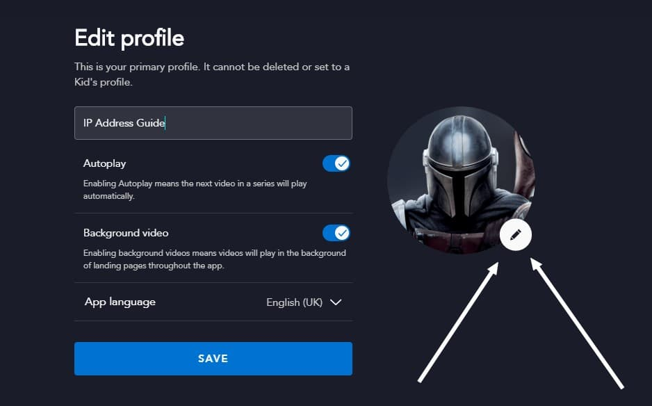Here you can see how to change your profile picture on Disney+