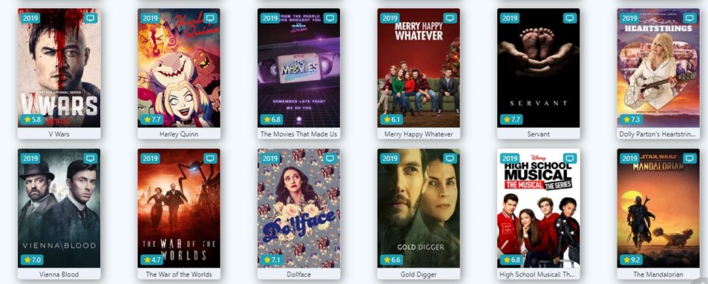 Lots of TV shows available on Flixtor