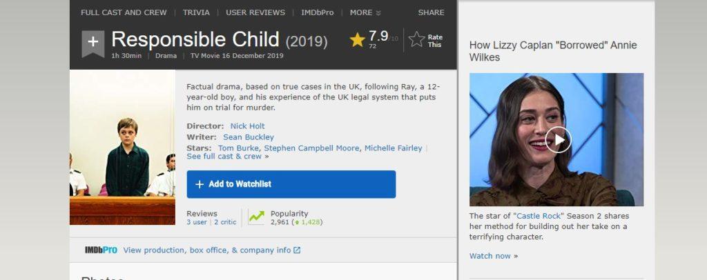 Responsible Child on IMDb