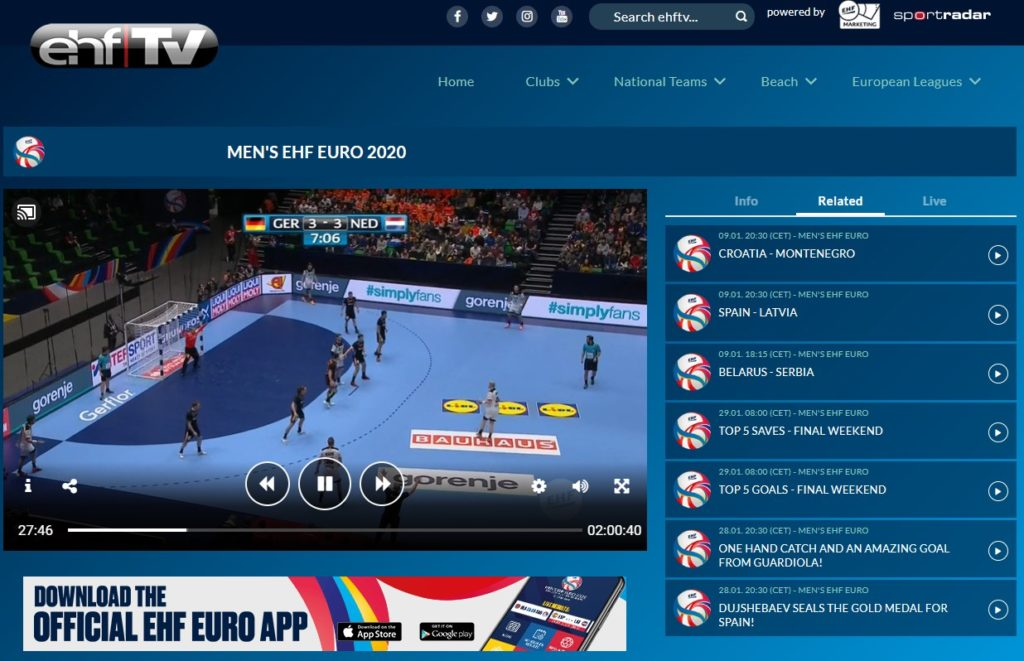 The EHF Euro 2020 is amazing