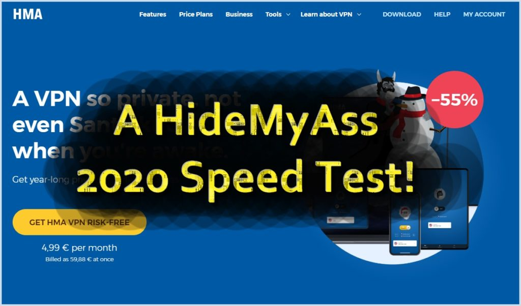 We have tested the HideMyAss download speeds in 2020!