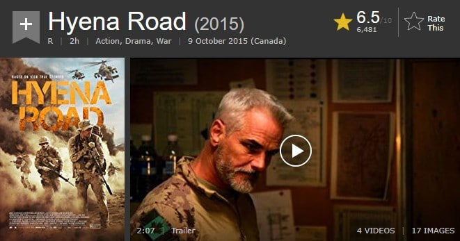 Can I watch Hyena Road on NEtflix?