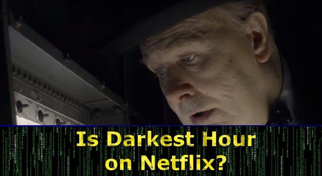Gary Oldman in Darkest Hour - now also on Netflix