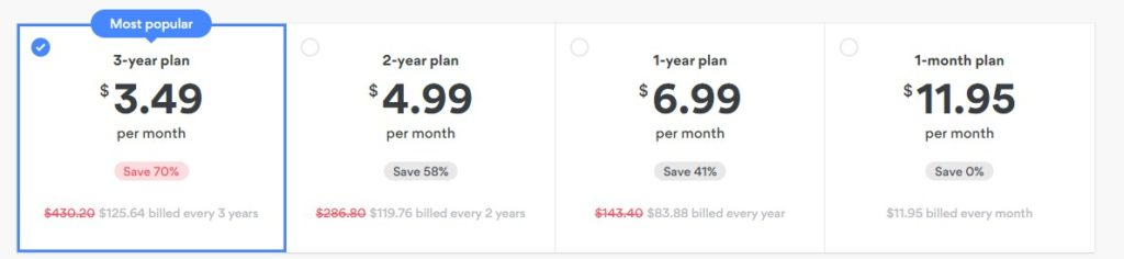 The NordVPN price plans