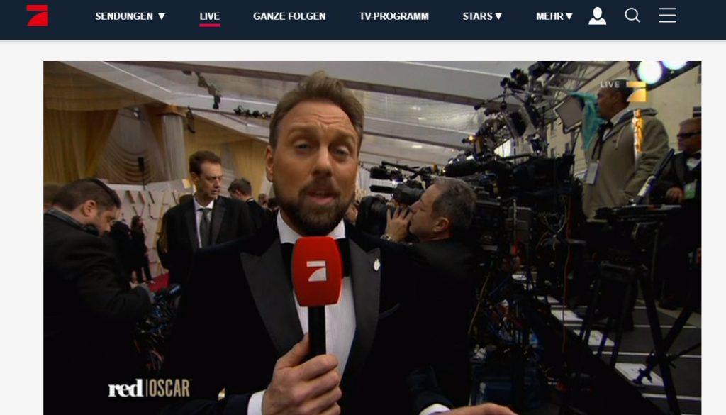 Fra Oscar utdelingen på tysk tv