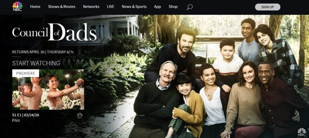 Watch Council of Dads online at the NBC website