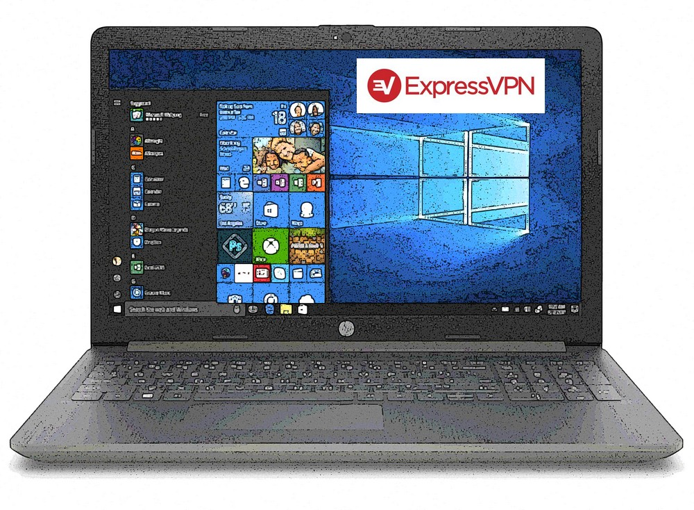 HP laptop with ExpressVPN