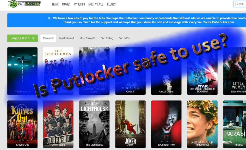 Is Putlocker veilig te gebruiken?