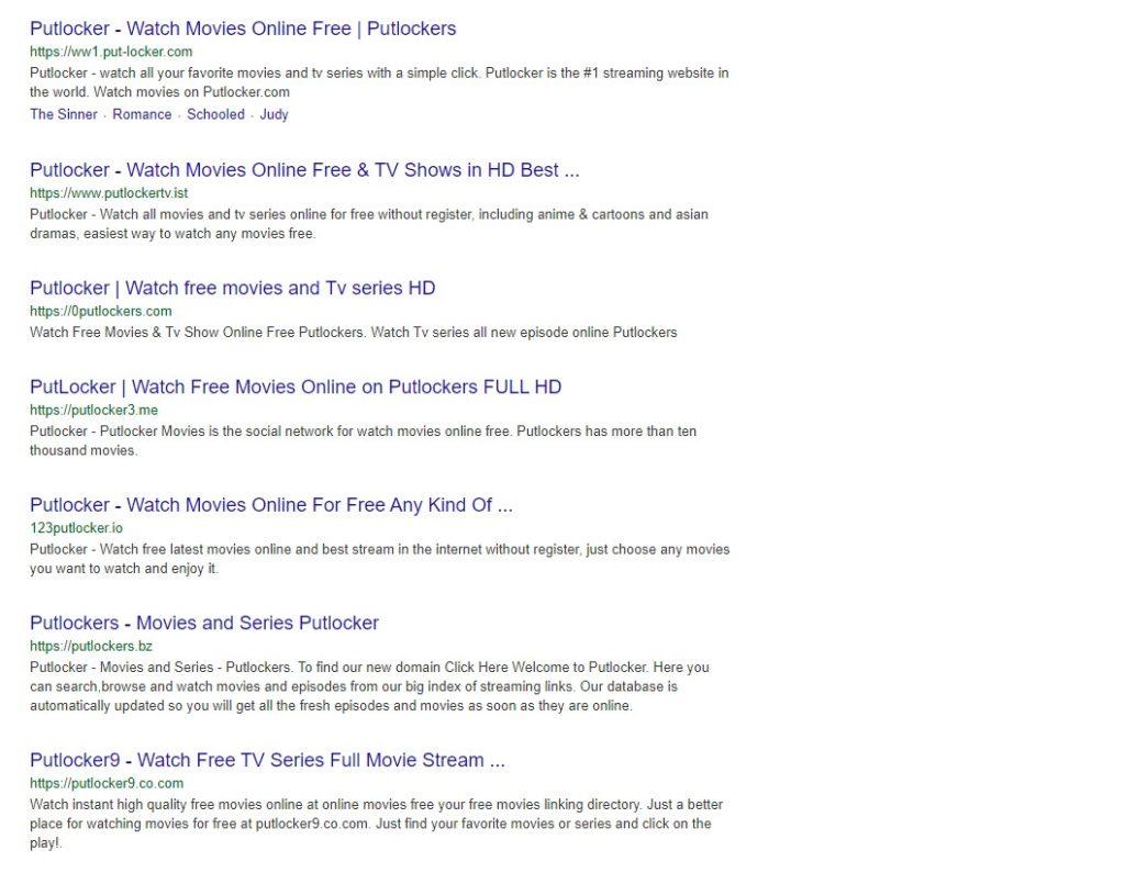 Putlocker Google