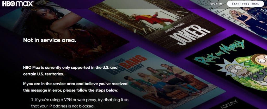 Watch HBO Max outside the United States
