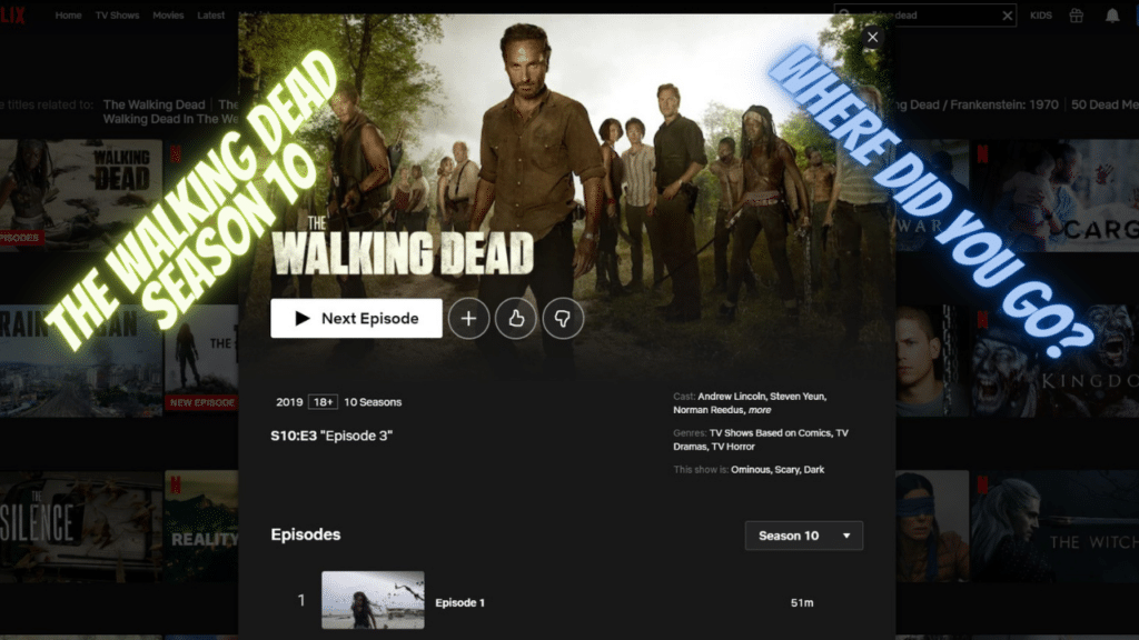 Why was The Walking Dead season 10 removed from Netflix?