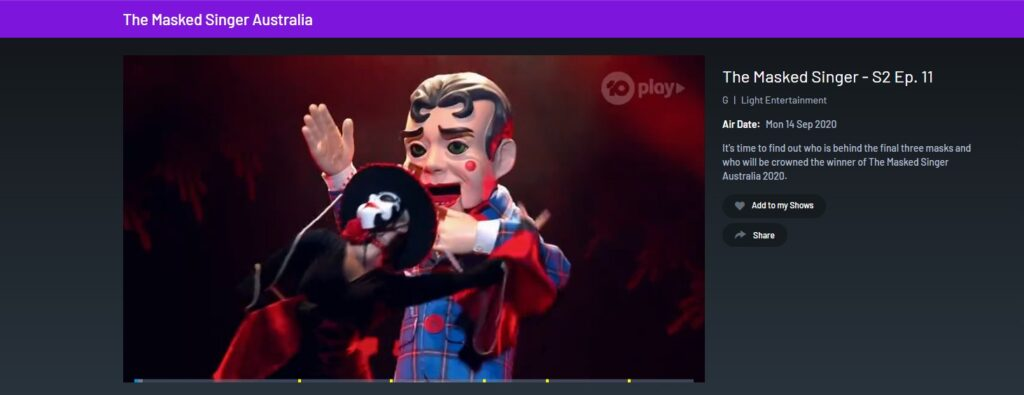 the masked singer tenplay abroad