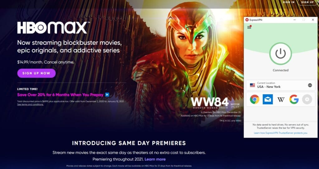 hbo max website