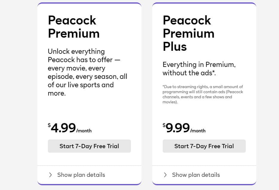 peacocktv plan