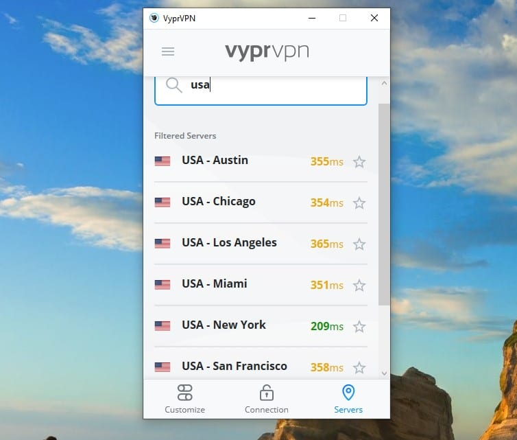 lots of vpn servers in the usa