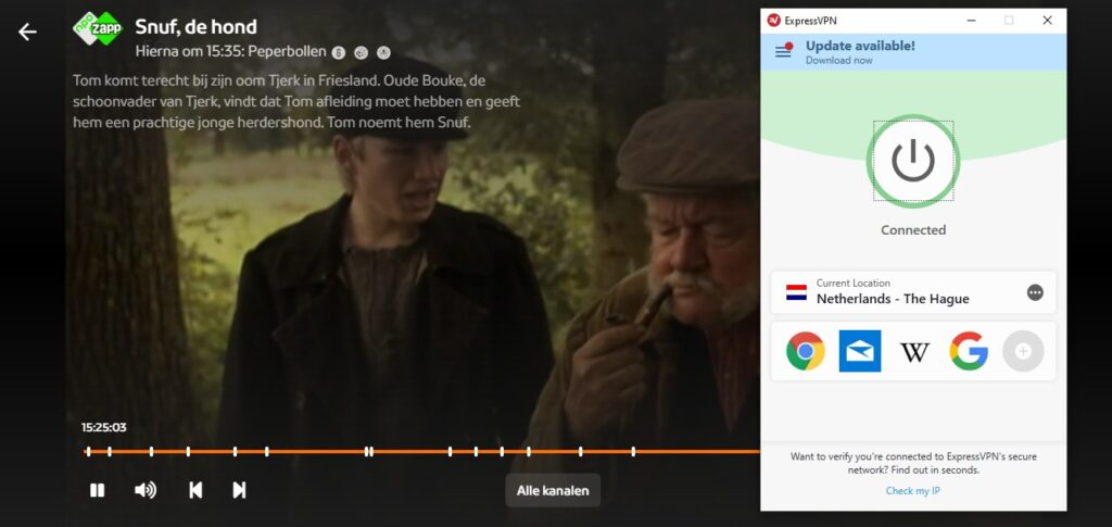 watch npo online abroad