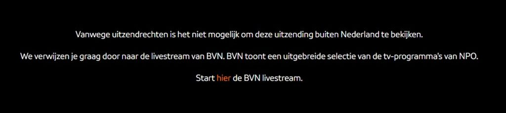 How can I watch the Summer Olympics on Dutch television outside the Netherlands?