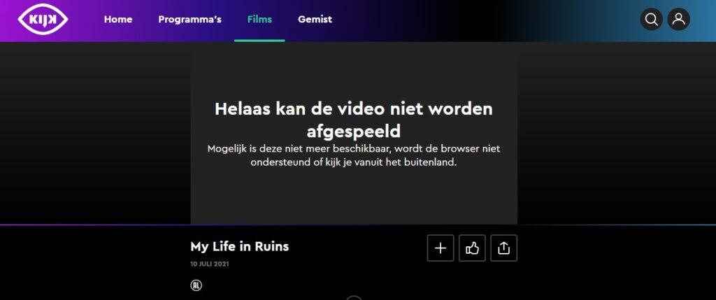 Puis-je regarder Kijk en ligne en dehors des Pays-Bas?