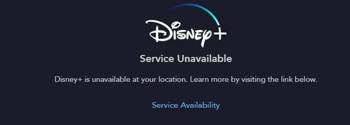 disneyplus isn't available
