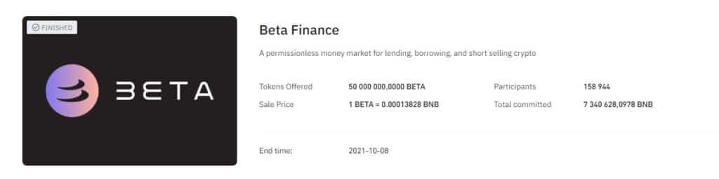 The Beta Finance Launchpad on Binance - was it a success (for investors)?