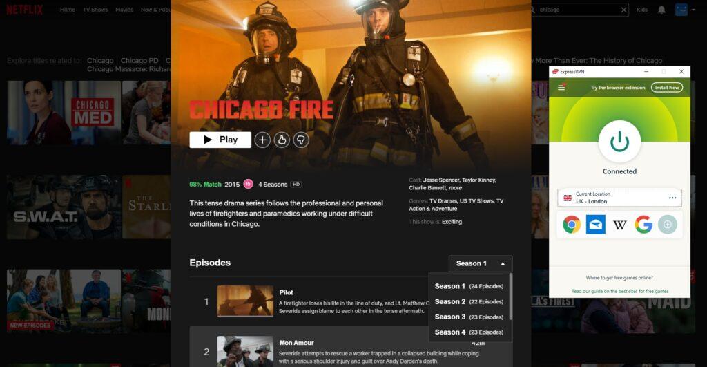 watching chicago fire on netflix