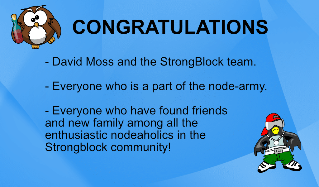 Congratulations to StrongBlock as they now facilitate and run more than 100,000 Ethereum nodes!